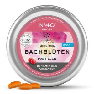 Lemon Pharma Original Bachblüten Nr 40 Energie Pastillen Dynamik und Ausdauer Bachblüten Bonbons